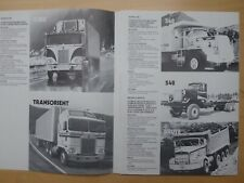 KENWORTH truck range folder in French, MY 198??
