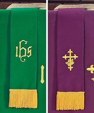 Bookmark Reversible Purple and Green for Church Service NEW SKU KC133