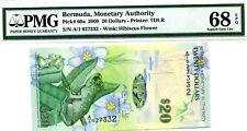 MONEY BERMUDA $20 DOLLARS 2009 MONETARY AGENCY PMG GEM UNC PICK # 60a VALUE $680