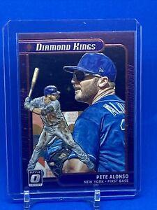 2021 Donruss Optic Pete Alonso #19 Diamond Kings Prizm Black Stars /149 NY Mets