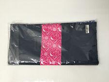 Tupperware Award Cloth Napkins set of 6 Gray, Pink & White
