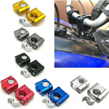"7/8"" 1 1/8"" Handle Bar Handlebar Fat Bar Risers Mount Clamp Motorcycle Bike ATVs"