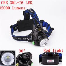 12000LM XML T6 LED 18650 Zoomable Scheinwerfer Kopflampe Stirnlampe Kopf Lampe Y