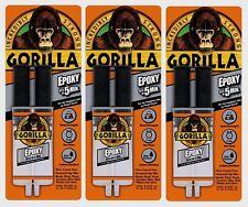 3 New!!! Gorilla Glue Epoxy Adhesive .85oz High Strength Dries Clear 4200102