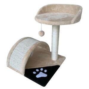 Cat Scratching Post Activity Centre Sisal Bed Nest Tree Scratcher Kitten Tower