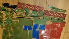 Vintage MECCANO Job lot 100 Plates and Strips Various Sizes and Colours