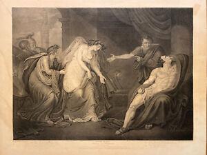 Shakespeare Antony & Cleopatra Boydell Circa 1793 Engraving Facius After Tresham