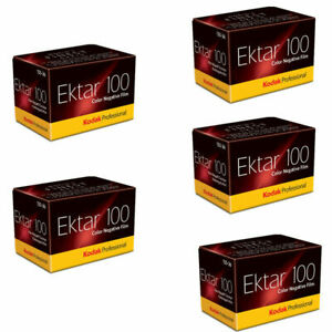5 Rolls Kodak Professional Ektar 100 Color Negative Film 36 Exposure