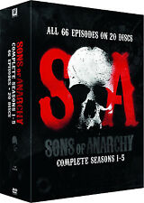 Sons Of Anarchy . The Complete Season 1 2 3 4 5 . Staffel 1-5 . 20 DVD . NEU OVP