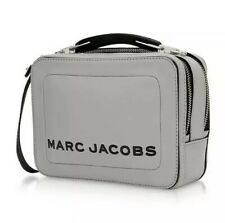 BNWT Marc Jacobs Mini Box Swedish Grey Leather Cross-Body Bag