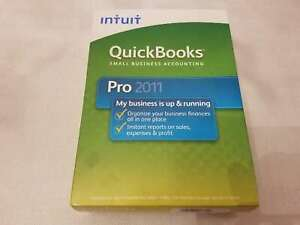 Brand New Intuit QuickBooks Pro 2011 - Full Retail Version for Windows 413617
