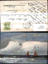 182098,Künstler Ak G. Ronin Segelschiff Schiffe