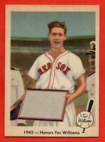 1959 Fleer #21 Ted Williams EX-EX+ CREASE HOF Boston Red Sox FREE SHIPPING