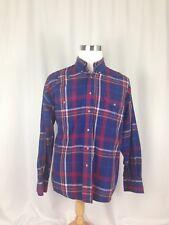 Painted Desert Wrangler Men's Red/Yellow/Blue Plaid XL Button Down LSleeve Shirt