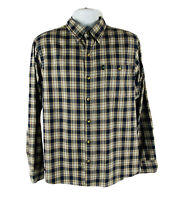 G.H. Bass & Company Mens Shirt Size Large L Plaid Long Sleeve Button Down Pock