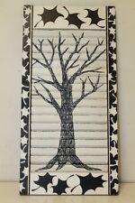 "Primiteve Art Black and white Tree Shutters Exterior 12"" x 24"" window Shutter"