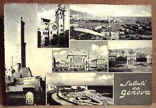 Saluti da Genova [grande, b/n, viaggiata]