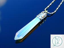 Opalite Crystal Long Point Pendant Manmade Gemstone Necklace Healing Stone