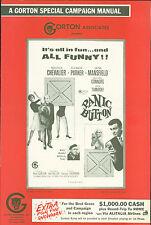 Panic Button (1964) press book  Eleanor Parker, Jayne Mansfield Maurice Chevalie