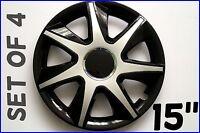 "SET OF 4 15"" WHEEL TRIMS COVER,RIMS,HUB,CAPS TO FIT FORD TRANSIT CUSTOM 2012+ #8"