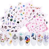 Nail Water Decals Colorful Flower Cute Bird Nail Art Transfer Sticker Design