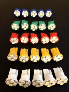 25 Mix Kit Chevy *BRIGHT* 12V LED 168 T10 Wedge Instrument Panel Light Bulbs NOS