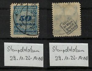 GERMANY 1923 INFLATION STAMP 50 BILLIONS MARKS USED CHECKED! -CAG 230621