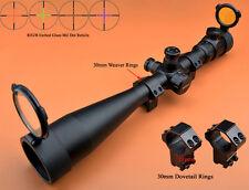 Saxon 10-40x50 SF R/G/B Glass Mil Dot Side Focus Rifle Scope W/2 kinds of Mounts