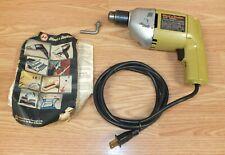 "Vintage Black & Decker (7127) 3/8"" Variable Speed Reversing Corded Drill *READ*"