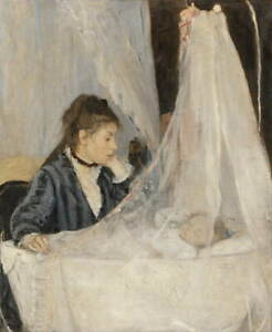 Berthe Morisot The Cradle Poster Reproduction Paintings Giclee Canvas Print