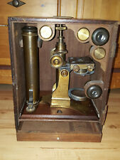 Altes riesiges Mikroskop, unsigniert, um 1880