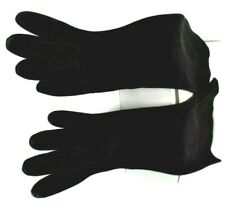 Rare Vintage Made France G Fox Import Womens Black Kid Leather Gloves Size 6 1/4