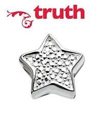 Genuine TRUTH PK 925 sterling silver LUCKY STAR charm bead, celestial, horoscope
