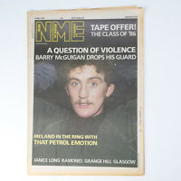 NME magazine 10 May 1986 BARRY McGUIGAN cover Janis Long The Ramones