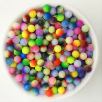 NEW 50PCS 8mm Color Acrylic No Hole Round Pearl Loose Beads Jewelry Making 13
