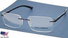"""D&G Dolce& Gabbana DG 1260 1106 MATTE BLACK EYEGLASSES GLASSES 55-17-140 """"READ"""""""