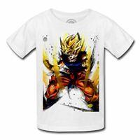 T-shirt enfant goku transformation sayan dragon ball z dbz