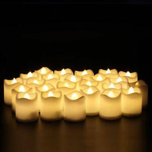 24 PCS Led Tea Lights Candles LED FLAMELESS Battery Operated Wedding XMAS UK