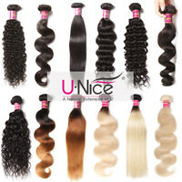 100g/bundle Brazilian Curly Wavy Virgin Human Hair Extensions Ombre Black Blonde