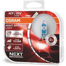 OSRAM Night Breaker Laser (Next Generation) +150% H7 Car Headlight Bulbs (Twin)