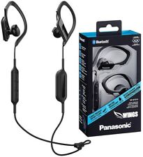 Panasonic RP-BTS10E-K BLACK Wireless Sports Clip Bluetooth Earphones /Brand New