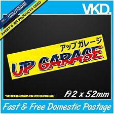 UP GARAGE Sticker/ Decal - UpGarage JDM Drift Bomb Turbo Vinyl JAPANESE Rare XXX