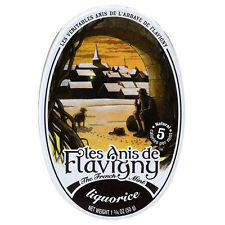 Les Anis de Flavigny Candy Licorice, 1.75 oz Oval Tin From France