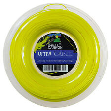 Weiss Cannon Ultra Cable 17L 1.23mm (neon yellow) 660ft 200m Tennis String Reel