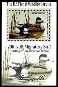 RW77b - 2010-2011 Issue Artist Signed Mini Sheet MOGNH - VF (ESP STOCK)