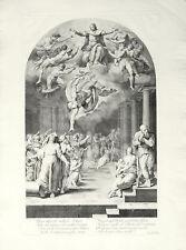 ANNUNCIAZIONE NASCITA GIOVANNI BATTISTA - Pellegrino Tibaldi - Incisione 1700