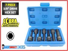 "Cobra 7pc Allen Key Hex Socket Bit Set 3/8"" Drive H4 H5 H6 H7 H8 H10 H12 (31-12)"