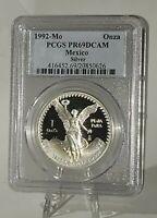 PCGS-PF69 DeepCameo 1992-Mo Proof 1 ONZA Silver LIBERTAD - Low Mintage