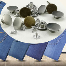 15-20mm DIY Metal Hammer on Jeans Buttons Denim Jacket with tack alloy studs
