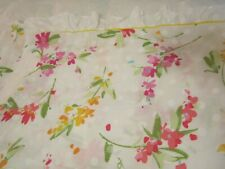 WAMSUTTA ULTRACALE TWIN SIZE FLAT SHEET FLORAL WITH RUFFLE TOP NWOT!